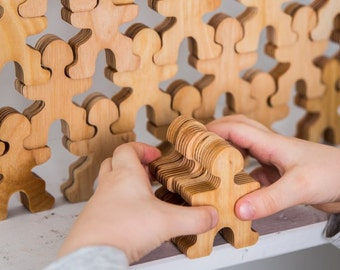 Wooden puzzle. Wooden toy.  Eco friendly. Educational toy. Gift for kids. Balance toy.Wood game. Stacking puzzle. Puzzle toy. Birthday gift.