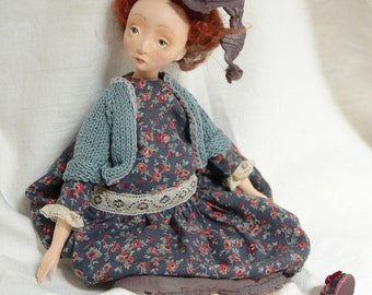 OOAK doll, collectible doll, called boudoir doll