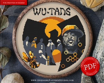 Wu-Tang Clan Cross Stitch Pattern for Instant Download *P070 | Easy Cross Stitch|Counted Cross Stitch| Embroidery Design|Needlecraft Pattern