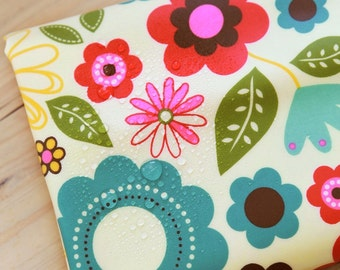 Floral Laminated Cotton Fabric By The Yard