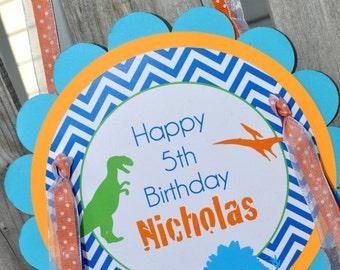 Dinosaur Birthday Party Door Sign, Welcome Sign, Boys 1st Birthday, Dinosaur Theme Birthday Party Sign, Dinosaur Birthday Party Decorations