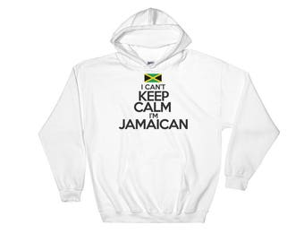 I Can't Keep Calm I'm Jamaican Art Hooded Sweatshirt