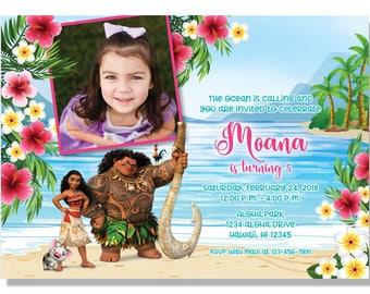 Moana Invitations - Digital File