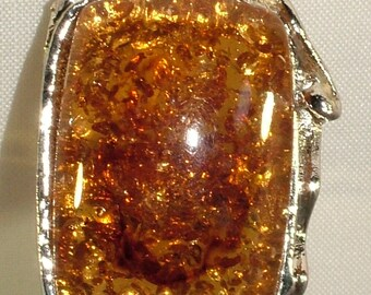 Natural Baltic Yellow Amber 925 Sterling Silver Gemstone Gem Oblong Ornate Set Ancient Celtic Ring Goth Witch Adjustable