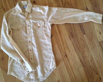 Vintage, H Bar C Western Shirt: Pearl snap