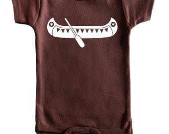 Canoe Silhouette Baby Bodysuit