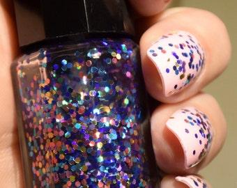 SALE!! Nail Polish - Party Mix// Top Coat // Glitter Polish// Glitter Top Coat