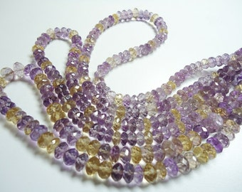 Ametrin Faceted Machine Cut Roundel Beads Size 8 To 9.50  mm String Lenth Is 15'' inch Total 1 Strings .