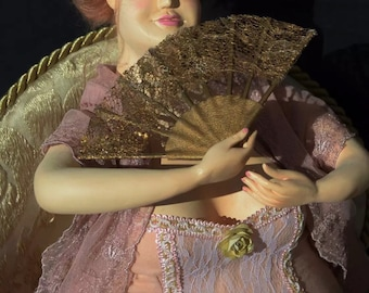 Art doll ooak interior doll collectible doll decoration romantic lady
