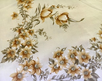Vintage single bed flat sheet floral boho retro shabby chic
