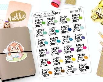Daddy Son Time Planner Stickers - Parent Planner Stickers - Mom Planner Stickers - Dad Planner Stickers - Functional Stickers - 1094