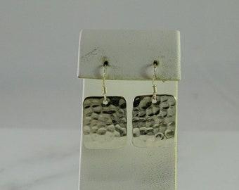 Hammered Sterling Pierced Earrings