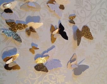 125 pc Paper butterflies   Wedding Shower      Reception    Wedding