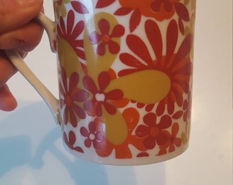 Fabulous Mod Flower Mugs