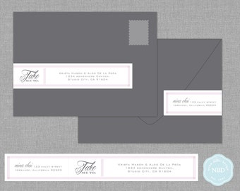 Take Me To Wraparound Mailing Address Labels [Printable | DIY | Digital File]