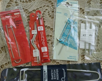 Milward, Polysew, Stitch Holder, Knitting Notions, Cable Knitting, Made in England, Made in India, Original Package, Aluminum