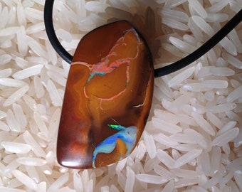 Gorgeous Koroit Boulder Opal Pendant from Queensland, Australia-57.5 cts.