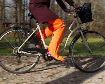 StopDrop Rain Cycling Pants - Orange