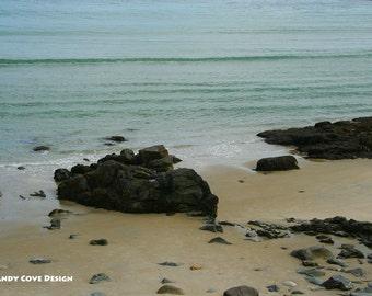 Maine Zen Garden, Ogunquit, Maine, Seascape, Sand, Rocks, Fine Art, Wall Art