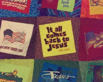 Made to order t shirt quilts