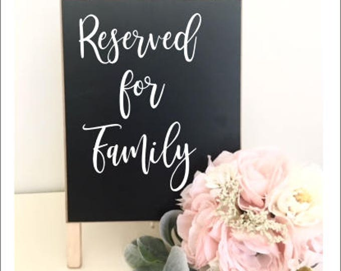 Reserved Wedding Decal Reserved for Family Decor for Wedding Rustic Handwritten Barn Wedding DIY Lettering for Sign for Wedding