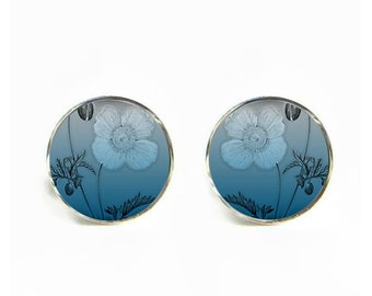 Ombre Poppy small post stud earrings Stainless steel hypoallergenic 12mm Gifts for her