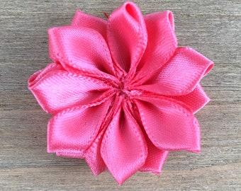 Watermelon Satin Ribbon Pinwheel Flower, Watermelon Pinwheel, DIY headband supplies, DIY hair bow flower, DIY hair clip, hair flower