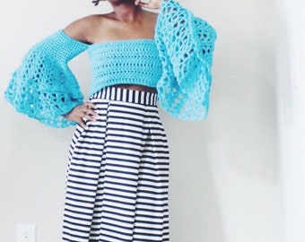 The Blooming One Crochet Top Pattern. Instant Download.