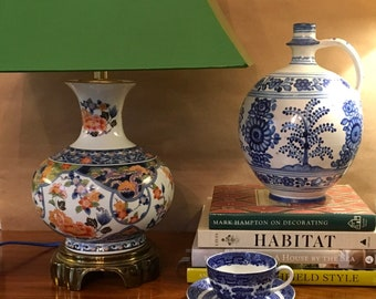 Chinoiserie Vintage pot de gingembre Quoizel lampe, Made in Japan