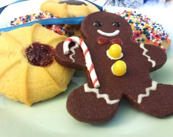 Gingerbread Man Miniature Food Christmas Ornament