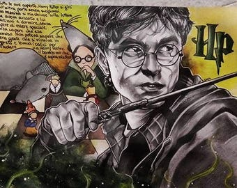 Harry Potter Theme Paper Portrait