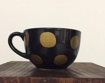 Large Black and Gold mug