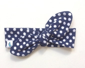 Top Knot Headband - Polka Dot Headband