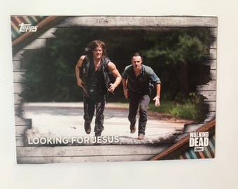 the walking dead fridge magnet - looking for jesus