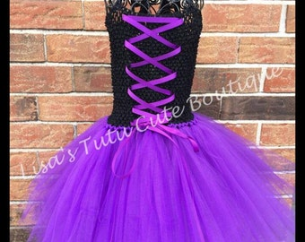 Black and purple corset dress. Infants to children