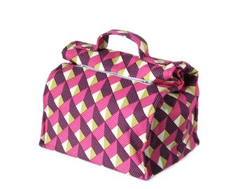 MTO Large Insulated lunch bag - Chevron