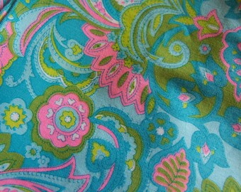 lovely teal and pink cloth napkins