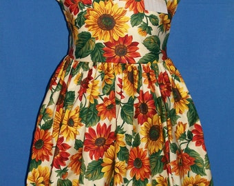Custom-made sunflower dress