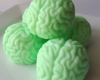 Zombie Brains or Monster Brain Soaps - Set of 2 - Goat Milk Soap - Watermelon - Easter  - Gag gift - Teen - Shaped Soap - Birthday gift