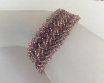Double spiral stitch bracelet
