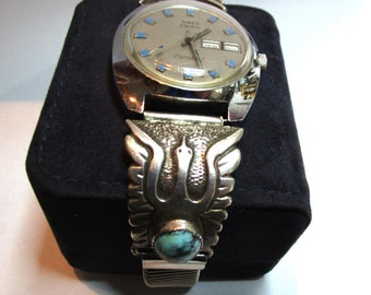 Navajo Sterling Turquoise Watch Ends