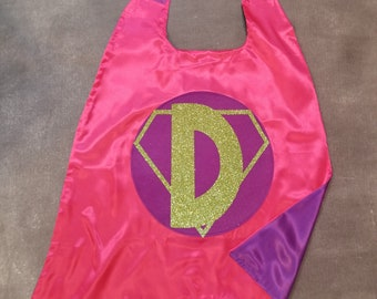 Custom Superhero Cape. Cape with Initial. Personalized Cape. Personalized Superhero Cape. Custom Cape. Cape. Make a Great Birthday Gift!
