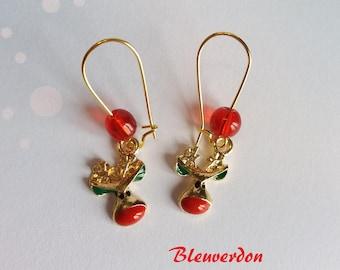 Rudolf the Red Nosed Reindeer earrings