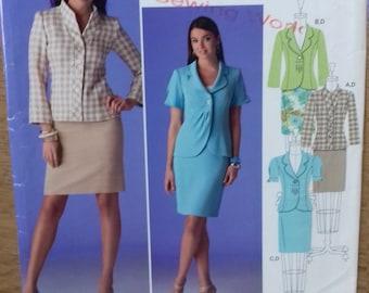 UNCUT Simplicty 2452 Misses Jackets & Skirt