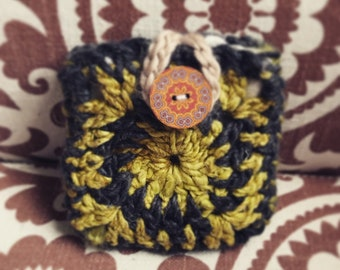 Upcycled Granny Square Pouch