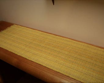 Sunshine Yellow Handwoven Table Runner