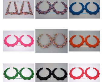 Wholesale Custom Bamboo Earrings Candy Sprinkle Collection  20 Pair