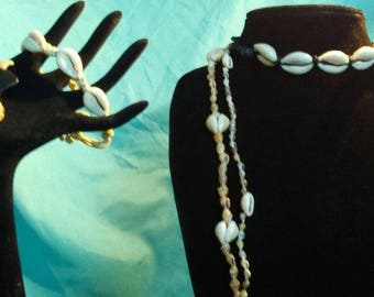 5 pc. Shell and Hemp jewelry accessories 3 necklaces 2 bracelets