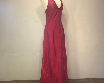 Jessica Mc Clintock Gunne Sax fushia prom dress prom 80s pink blacktie formal maxi dress