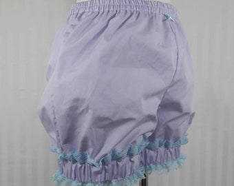 Light purple mini sweet lolita fairy kei bloomers shorts with wide cuff adult woman size small-plus size